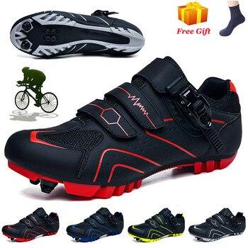 Sapatilha ciclismo ao ar livre mtb sapatos de ciclismo homem tênis mulher profissional sapatos de bicicleta de estrada auto-bloqueio sapatos de bicicleta de montanha 1