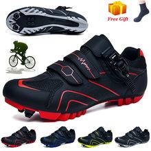 Outdoor sapatilha ciclismo MTB obuwie rowerowe mężczyźni Sneakers kobiety profesjonalne szosowe buty rowerowe samoblokujące buty na rower górski tanie tanio HOMASS CN (pochodzenie) Dla dorosłych Oddychające Wysokość zwiększenie Oświetlony Masaż Wodoodporna Cotton Fabric