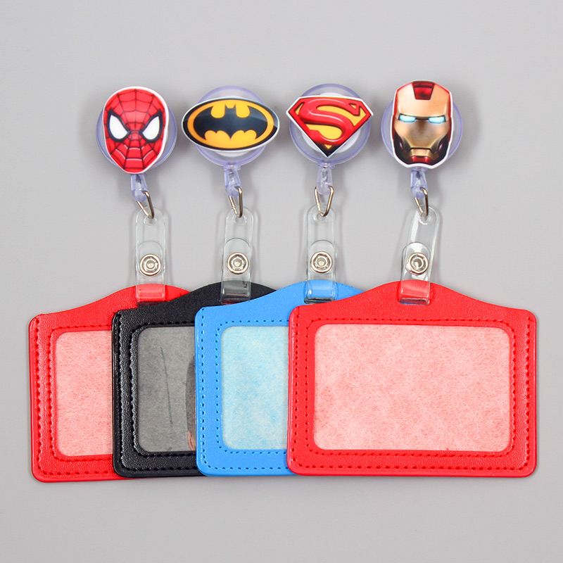 Cartoon Super Heros Resin Badge Scroll Nurse Office Reel Character Scalable Student Exhibition Business Card Badge Holder