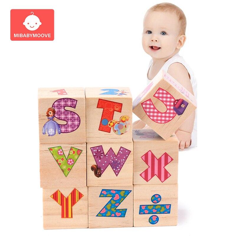 Wooden 3D Puzzle Jigsaw Wooden Toys Geometric Shapes Puzzle Colorful Cubes Kindergarten Educational Toys Digital Shape Alphabet