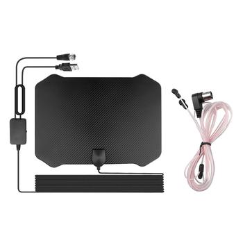 Nowy 4K 1080P cyfrowy HDTV kryty TV wzmacniacz sygnału anteny dla promień TV Surf Fox Antena 60-130 mil HD TV anteny Antena tanie i dobre opinie kebidumei VHF (170-240Mhz) UHF( 470-860Mhz) Indoor TV Antenna