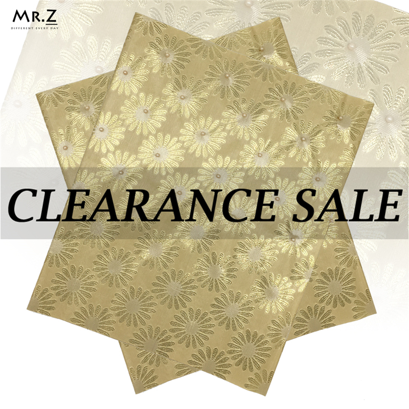 Mr.Z 2Pcs/set African Sego Headtie Gold Color Latest Nigerian High Quality Gele For Women