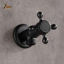 Zgrk черные латунные запорные клапаны для ванной масло втираемая