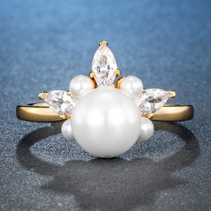 Image 2 - ALLNOEL bague en argent Sterling 925 en Zircon véritable perle en Zircon pour femme, couleur jaune or, refermable, bijou de fête, tendance 925