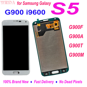 100% Tested LCD For Samsung Galaxy S5 i9600 G900 G900F G900A G900T G900M LCD Display Touch Screen Digitizer Assembly Replacement