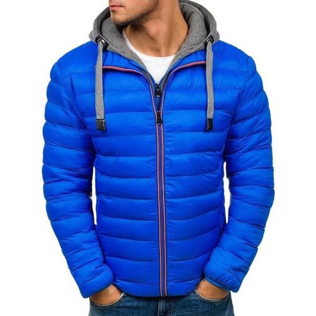 ZOGAA mens winter jackets and coats Casual fashion men clothes 14 colors men winter jacket plus size S-XXXL Hooded  parka men 2