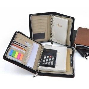 Image 3 - Classeur à ressort avec fermeture éclair, cahier de gestionnaire dentreprise avec calculatrice TPN036