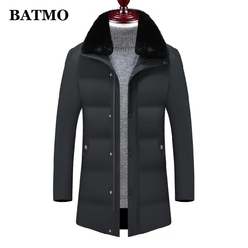 BATMO 2019 new arrival winter high quality thicked warm parkas men,men's thicked jackets men,8802