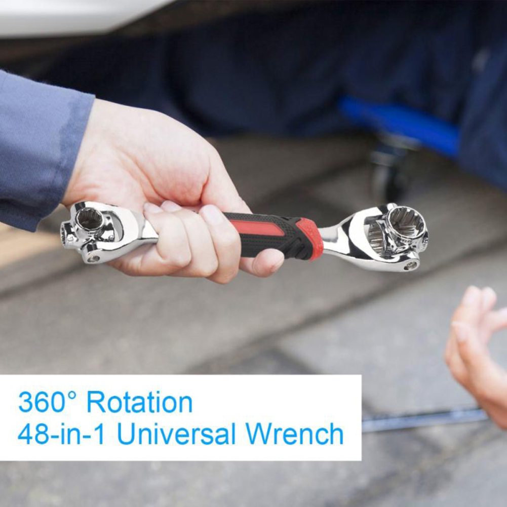 48-in-1 Tiger Wrench Hand Tools Socket Works With Spline Bolts Torx 360 Degree 6-Point Universial Furniture Car Repair Spanner