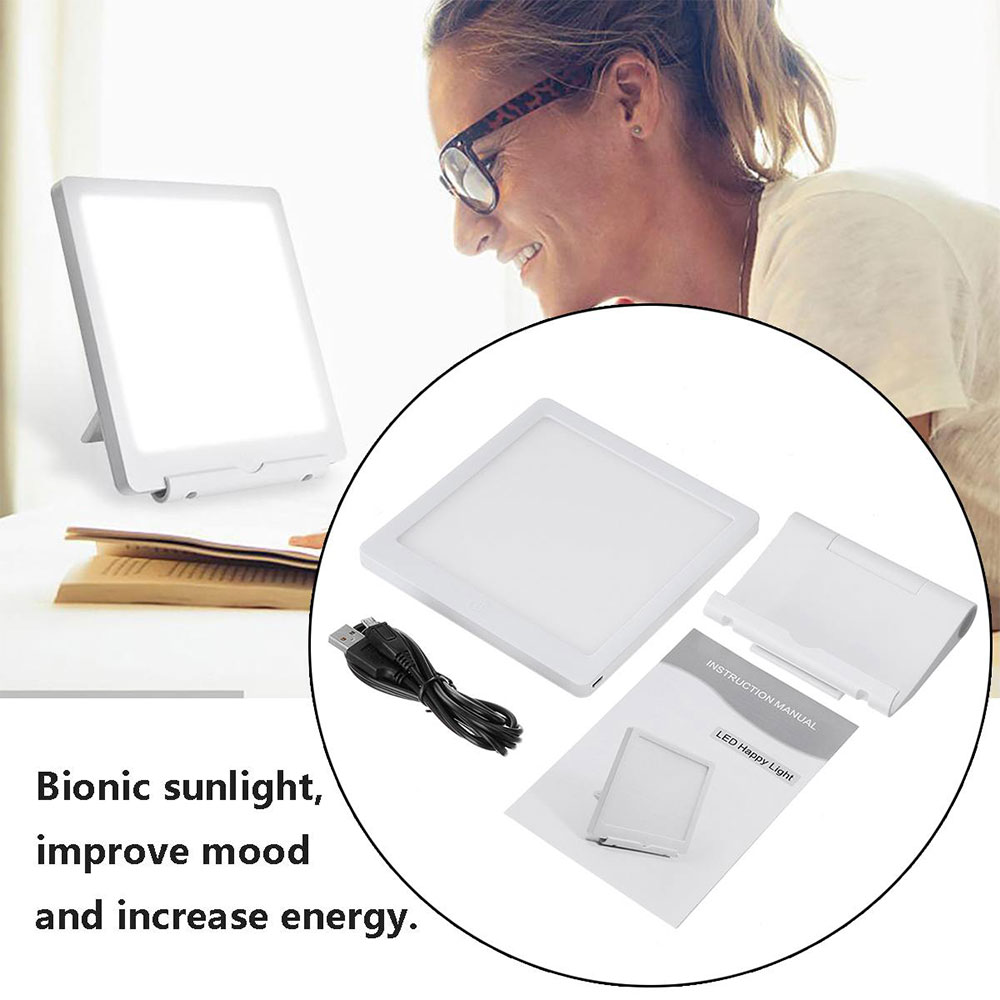 Image 5 - 5W SAD LED Phototherapy Light 10000 LUX Bionic Daylight Affective Disorder USB LED Lamp Relief Listless Fatigued Therapy LightsNight Lights   -