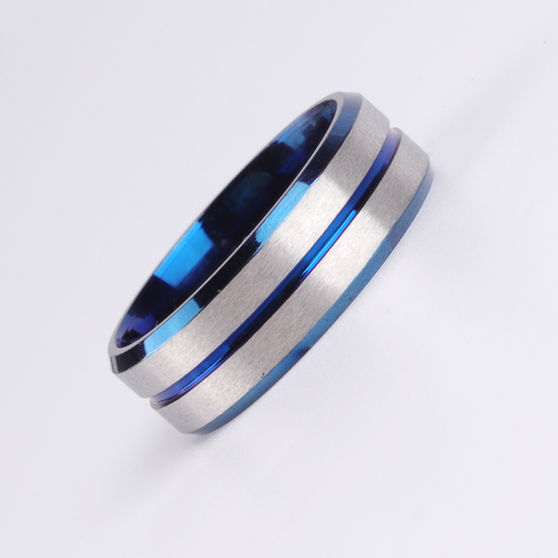 Classic Couples Ring Women Men Stainless Steel Lovers Ring Wedding