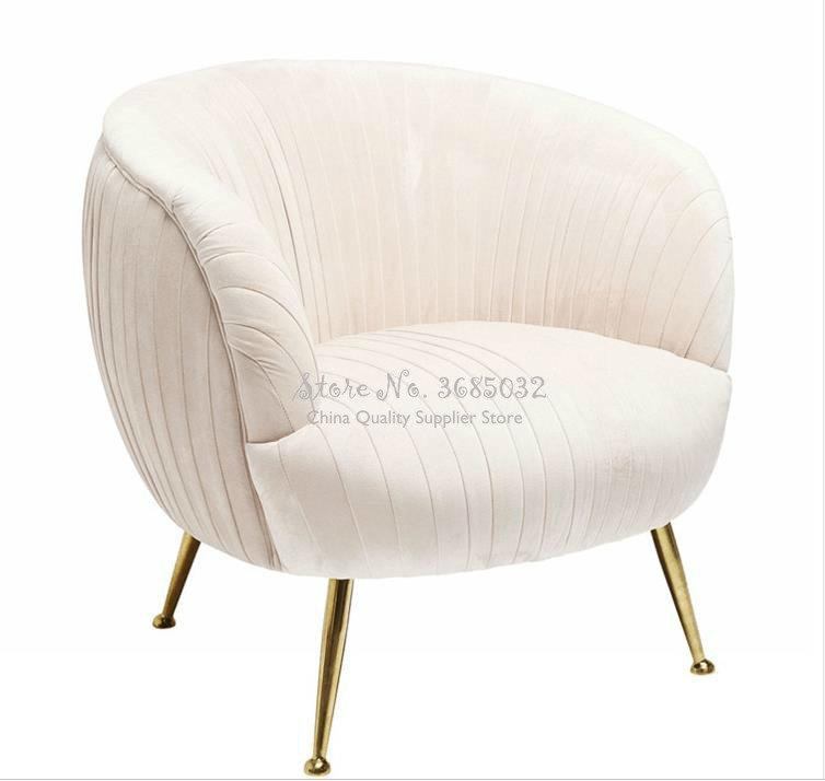 Luxury Nordic Single Sofa Chair Leisure Creative Modern Balcony Living Room Fabric Bedroom Multicolor Cover Chairs Lounger Seat