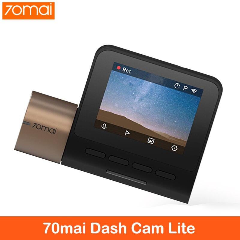 70mai Dash Cam Lite 1080P Ultra HD Автомобильный видеорегистратор 24H монитор парковки с wifi Автомобильный видеорегистратор 1920 × 1080 500mAh аккумулятор FOV 130 Degr