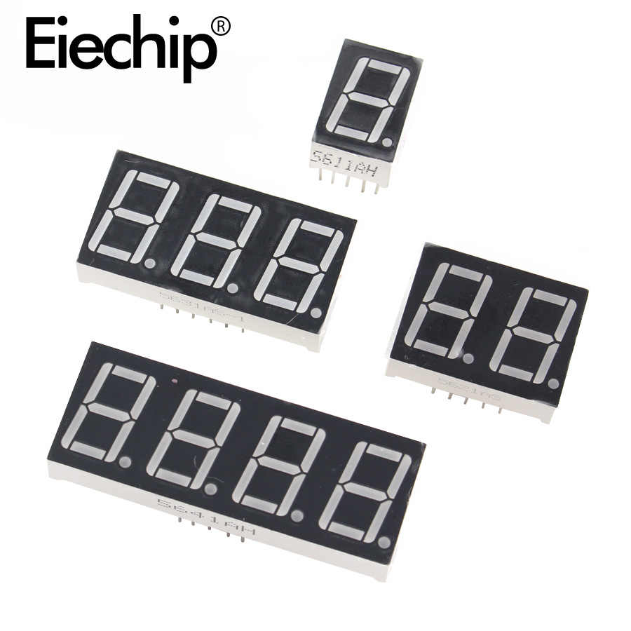 0.36 Inci 1/2/3/4 Bit LED Display 7 Segmen Katoda Umum Anoda 1/ 2/3/4 Digit 0.36 Cm Tabung Tampilan Merah 7 Segmen LED Display