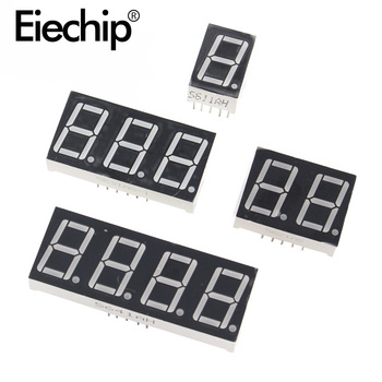 0.36 inch 1/2/3/4 bit LED display 7 Segment Common Cathode / Anode 1/2/3/4 Digit 0.36inch Display Tube Red 7Segment LED Display