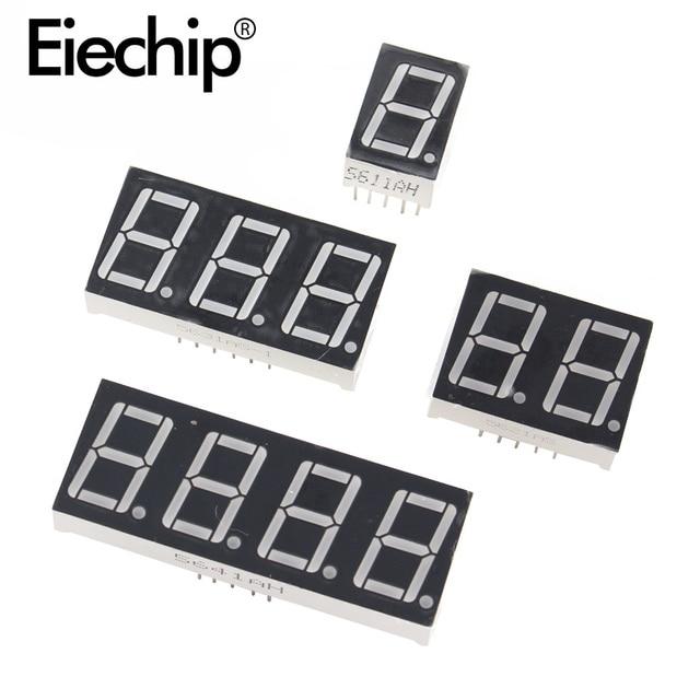 0.36 inch 1/2/3/4 bit LED display 7 Segment Common Cathode / Anode 1/2/3/4 Digit 0.36inch Display Tube Red 7Segment LED Display