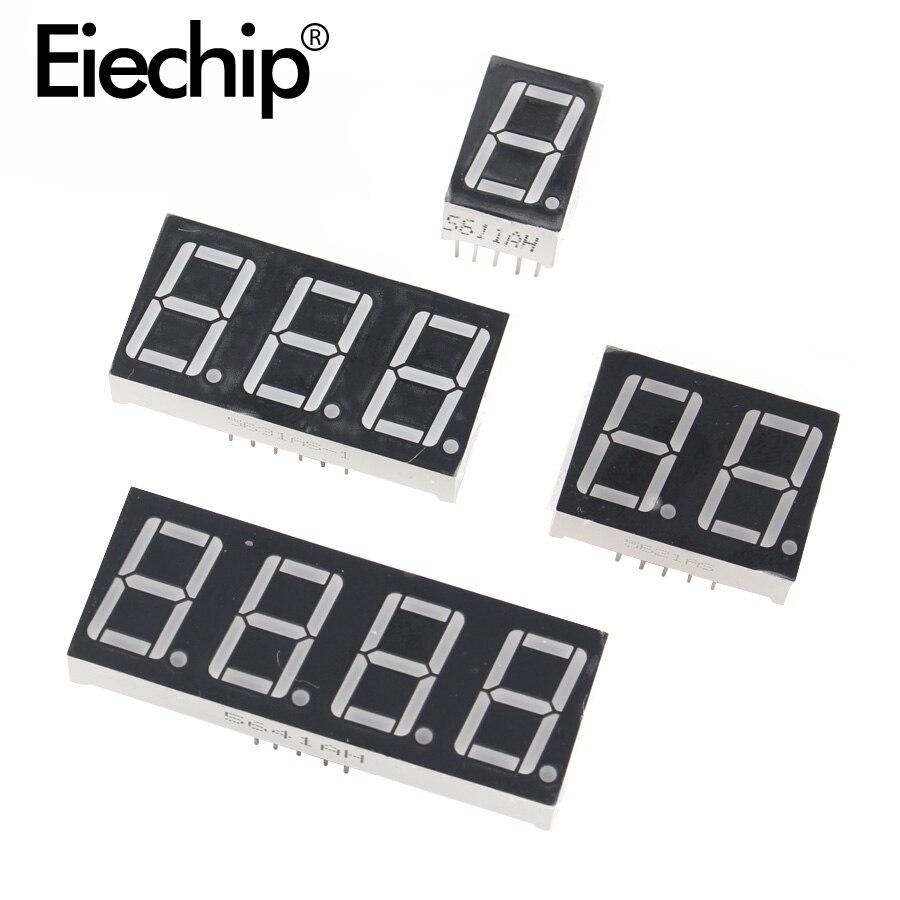 0.36 pouces 1/2/3/4 bits LED affichage 7 segments Cathode commune/Anode 1/2/3/4 chiffres 0.36 pouces Tube d'affichage rouge 7 segments LED affichage