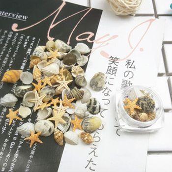 beach conch starfish circles waterproof bath curtain 3D Natural Nail Art Decoration Mini Conch Shells Starfish Sea Beach Ornaments Manicure Tools For DIY