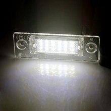 цена на 2PCS Error Free LED License Number Plate Light Lamps For Golf Jetta Passat T5 Transporter Skoda Car License Plate Lights