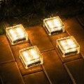 Thrisdar светодиодный подземный светильник на солнечной батарее  солнечный садовый светильник  кирпичный ледяной куб  дорожка  напольный свети...