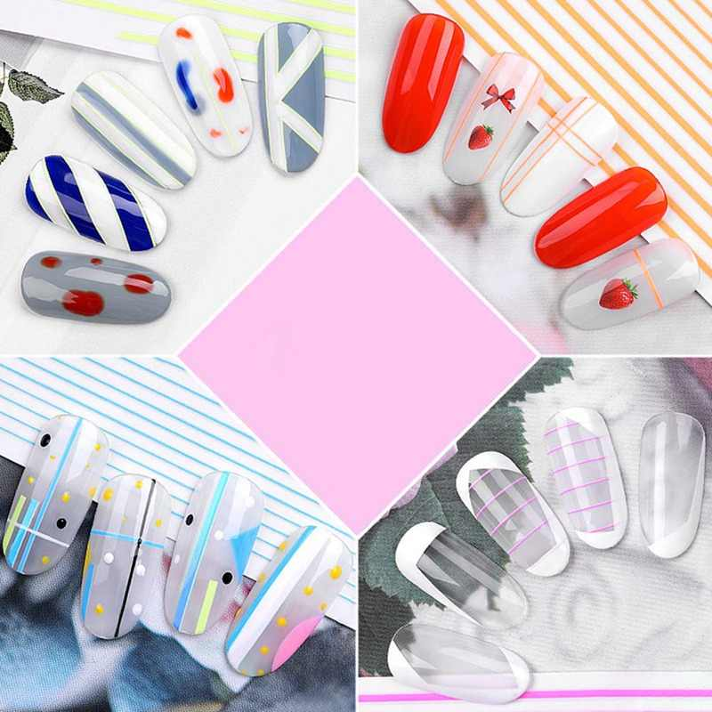 3D Gum  Cool Lines Japanese-Style New Style Magico Manicure Adhesive Paper Nails Flower Stickers