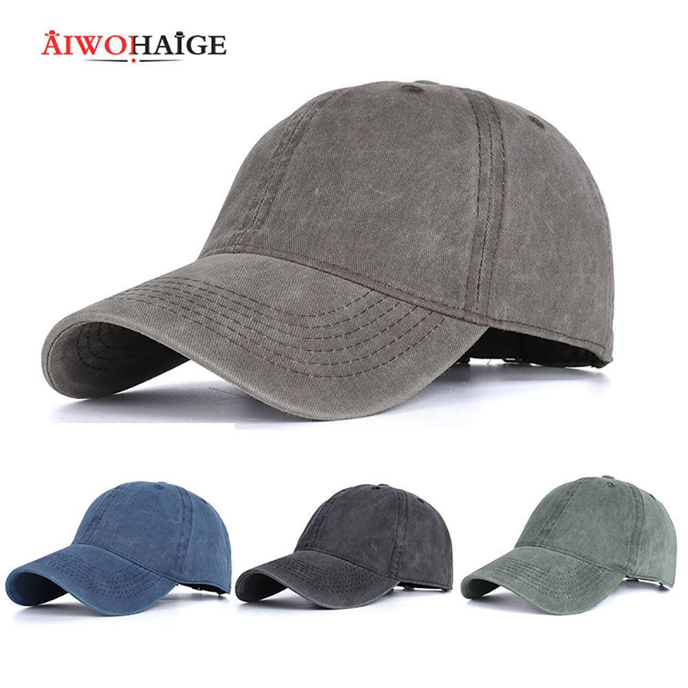 Men's Baseball Cap Outdoor Summer Solid Color Washed Retro Distressed Hat Ladies Hat Park Outdoor Popular Unisex Dad Cap Womens