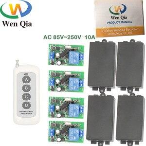 Радиочастотный переключатель дальнего действия с дистанционным управлением AC 85 ~ 220 В 1CH 2200 Вт 4 банды релейный приемник и передатчик для две...
