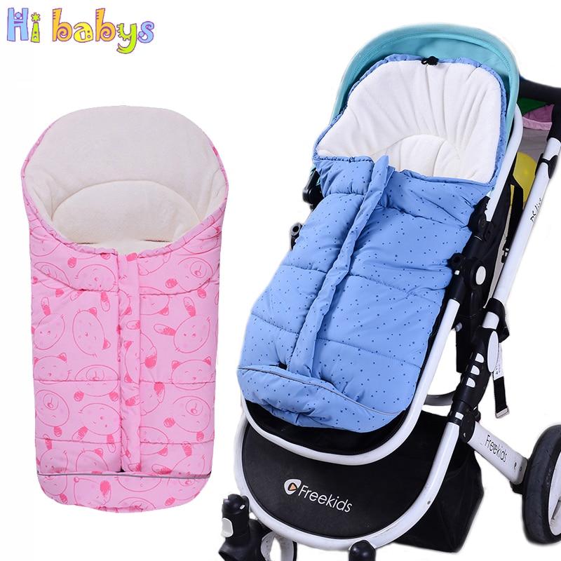 2018 Winter Baby Sleeping Bags Newborn Envelope For Stroller With Footmuff Infant Cartoon Envelopes For Newborn Baby Sleep Sacks