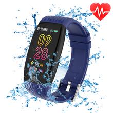 IP67 wodoodporna krokomierz sportowy Ultralight inteligentny bransoletka Fitness Tracker tętna Monitor ciśnienia krwi inteligentna opaska na rękę tanie tanio Other