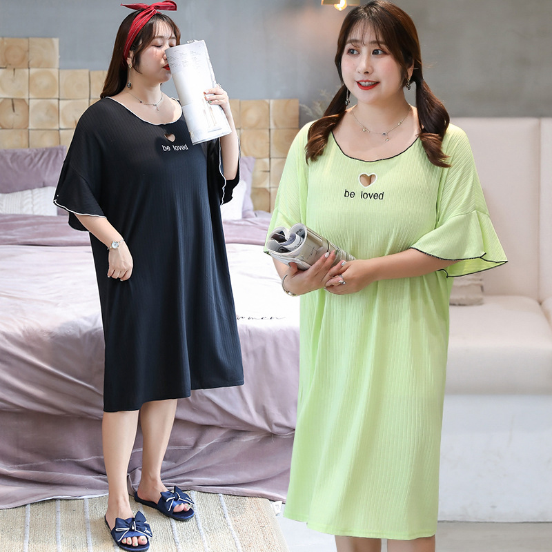 [Xuan Chen] Summer New Products Plus-sized Extra Large WOMEN'S Dress Fat Mm Tracksuit Nightgown 200 Pajamas 1813
