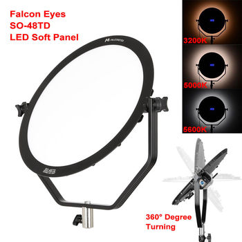 Falcon Eyes SO-48TD 48W LED Panel Dimmable High CRI95 3000-5600K Lighting Video Film Studio Photography Continuous Light