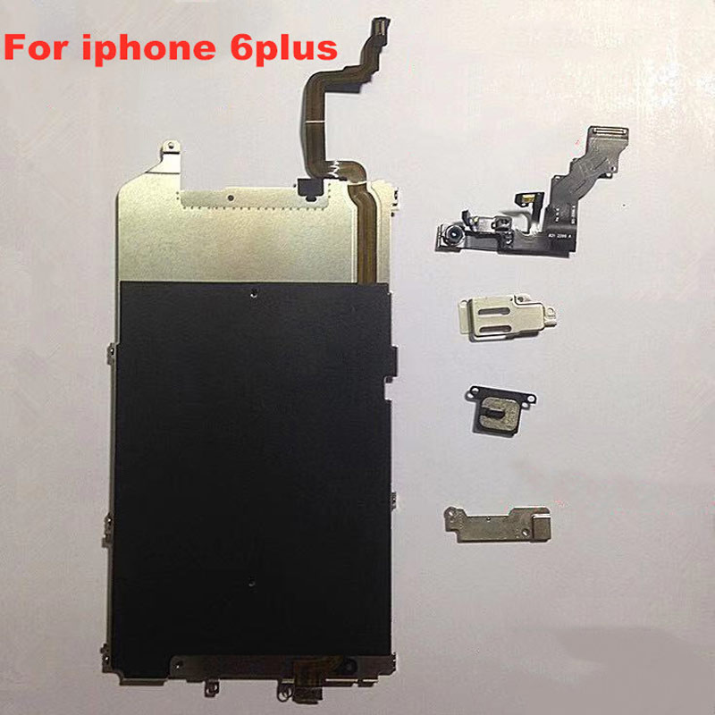 for iPhone 5 5s 5c 6 6 Plus 6s 6splus 7 7plus LCD Back Plate with Connection Flex Cable full set screws in Mobile Phone LCD Screens from Cellphones Telecommunications