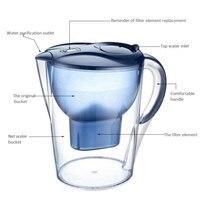 3.5l 8 copo doméstico remover residual cloro 5 camada filtro ativar jarro de filtro de água carbono saudável com bpa livre|  -