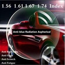 1,56 1,61 1,67 1,74 индекс оптические рецептурные линзы Асферические очки близорукости дальнозоркости, устойчивое к царапинам защита от излучения