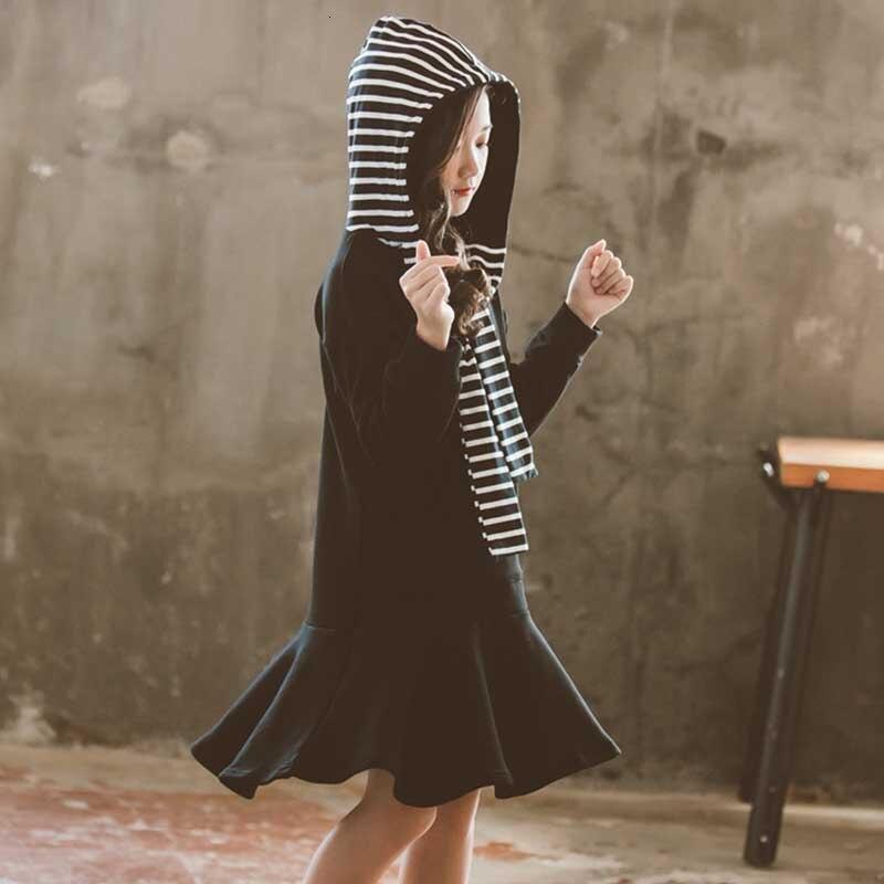 École enfants robes pour filles à manches longues printemps automne 2020 bébé fille robe de soirée adolescent enfants robe de mode vêtements