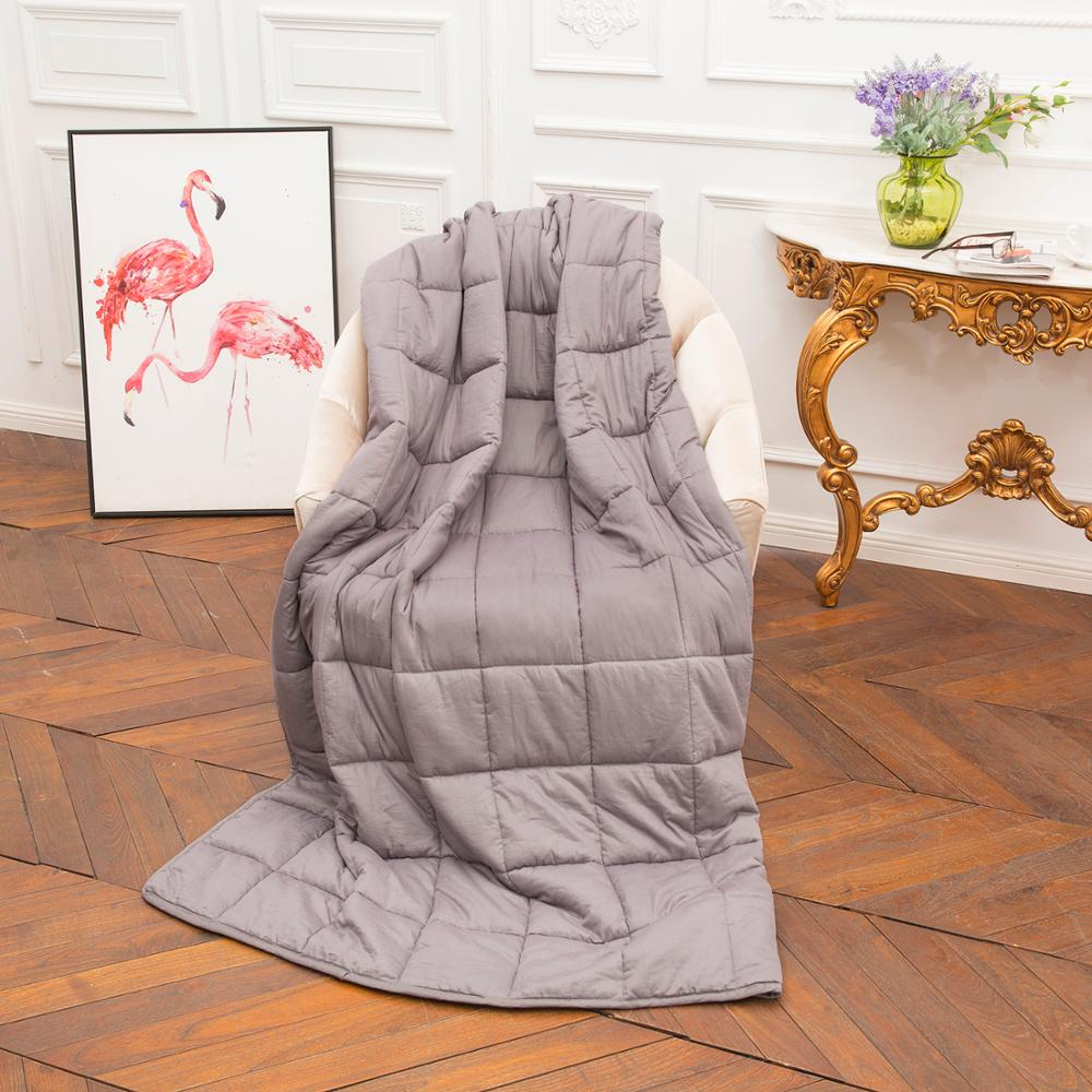 Weighted Idea Adult Blanket 15 lbs Queen Size Cooling for Adults 100% Cotton Material with Glass Beads