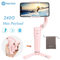 FeiyuTech Vlog Pocket Smartphone Gimbal 3 Axis Handheld Gimbal Pink Foldable Stabilizer for Android 240g Payload
