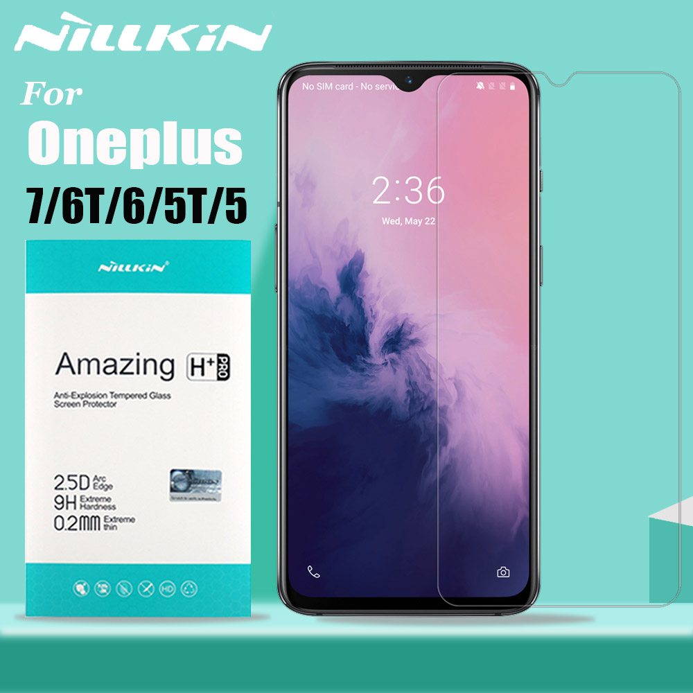 For Oneplus 7/6T/6/5T/5 Glass Screen Protector Nillkin 9H Hard Clear Safety Protective Tempered Glass For One Plus 7/6T/6/5T/5