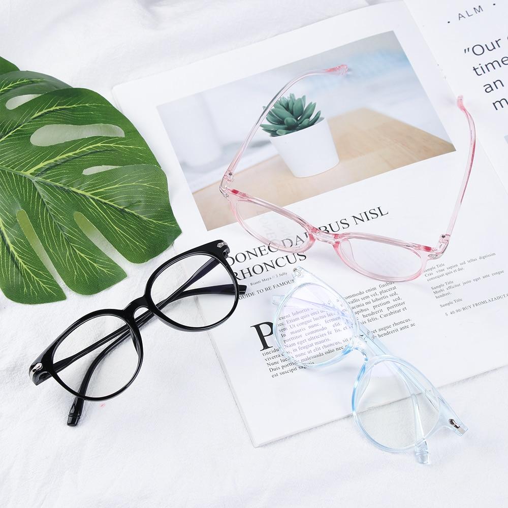1Pcs Fashion Unisex Portable Optical Glasses Ultra Light Resin Blue Light Blocking Glasses Flexible Vision Care Computer Glasses