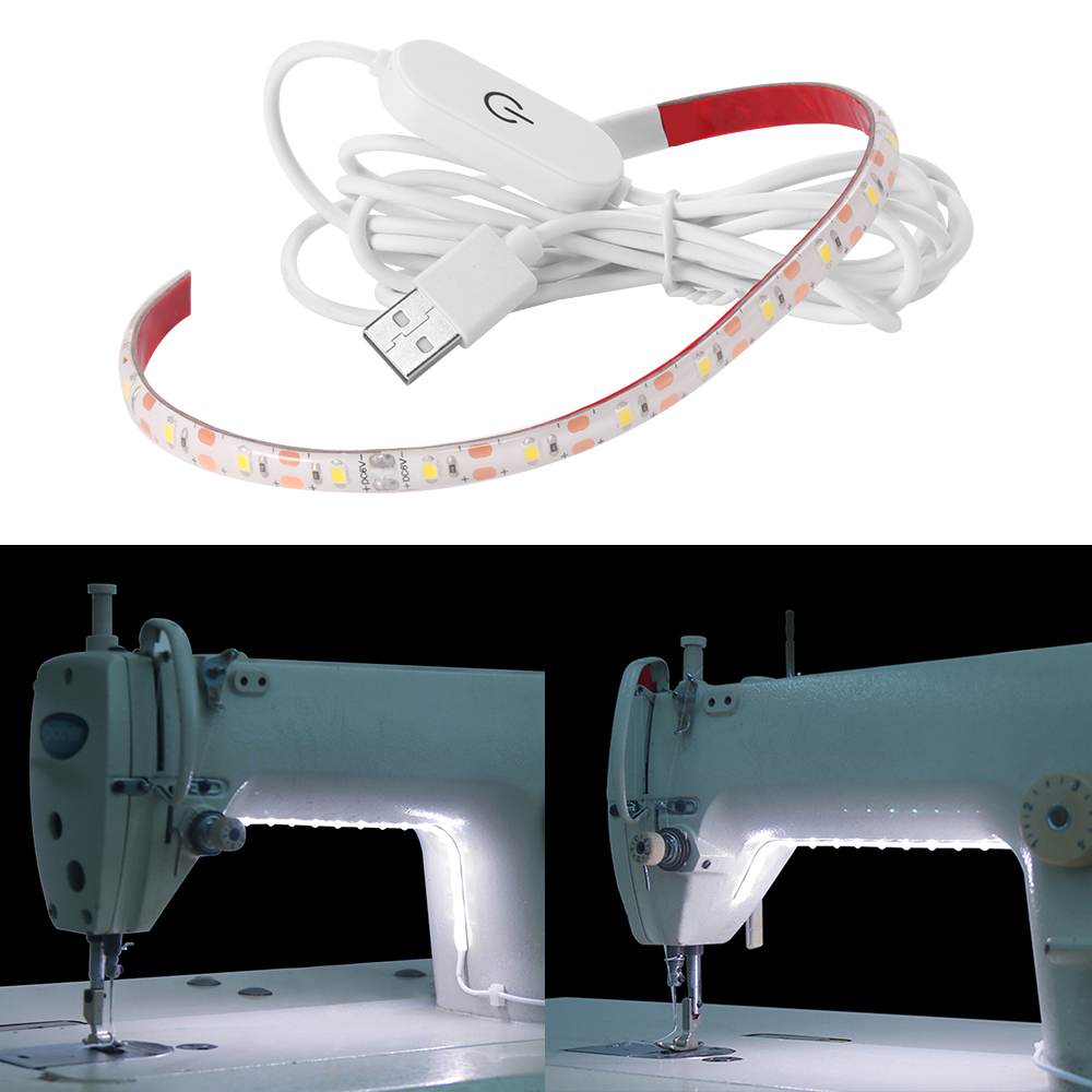 Sewing Machine LED Light Strip Flexible Neon 5V USB Ice Tape Cold White Ruban For Maquina De Costura Lights IR Control Lamp Fita