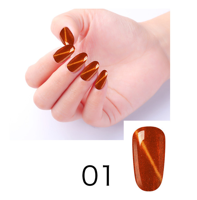 Elite99 Gold Cat Eye Gel Polnischen Magnetische Gel Nagellack 10ml Cat Eye Nail art Gel Weg Tränken UV LED Gel Lack Nagel Make-Up