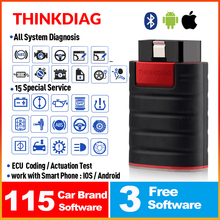 Thinkcar thinkdiag Bluetooth obd2 car full system diagnostic tool obdii code reader scanner with 15 reset function pk easydiag