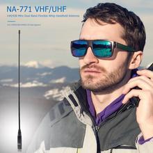 Antenna Radio for Yaesu/vertex 38cm NA-771 Dual-Band SMA-M Black Male Durable High-Gain