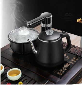 Double Electric Kettles Household Insulated Tea Pot Set with Induction cooker Stainless Steel Safety Auto-off Function 1.0L 220V free shipping the ultra thin mute double display screen with uniform fire pot for induction cookers induction cooker