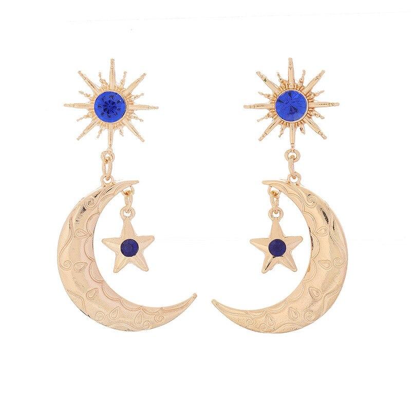 Elegant Gold Star Sun God Earrings