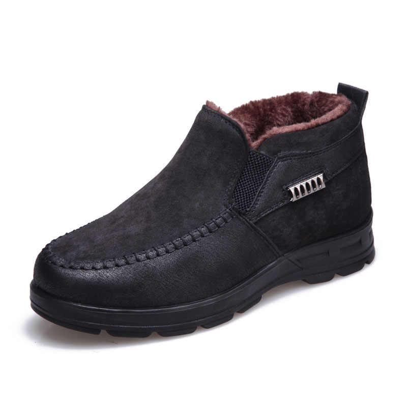 2019 winter stiefel für männer winter schuhe warm plüsch pelz schnee stiefel Männlich Stiefeletten herren winter stiefel bota masculina botas hombre