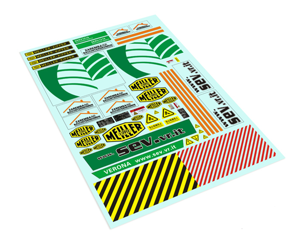 MEILLER-KIPPER Water Decals Stickers For 1/14 <font><b>Rc</b></font> <font><b>Truck</b></font> <font><b>Tamiya</b></font> Benz Arocs 3348 Engineering <font><b>Dump</b></font> <font><b>Truck</b></font> image
