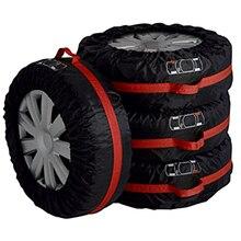 4Pcs 스페어 타이어 커버 케이스 폴리 에스터 겨울과 여름 자동차 타이어 보관 가방 자동 타이어 액세서리 차량 휠 프로텍터 뜨거운
