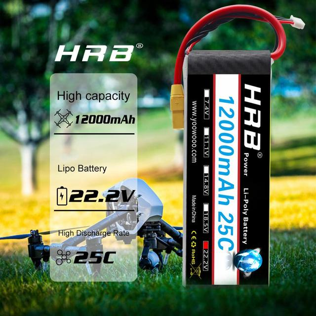 Hrb 6s lipo battery 22.2v 12000mah