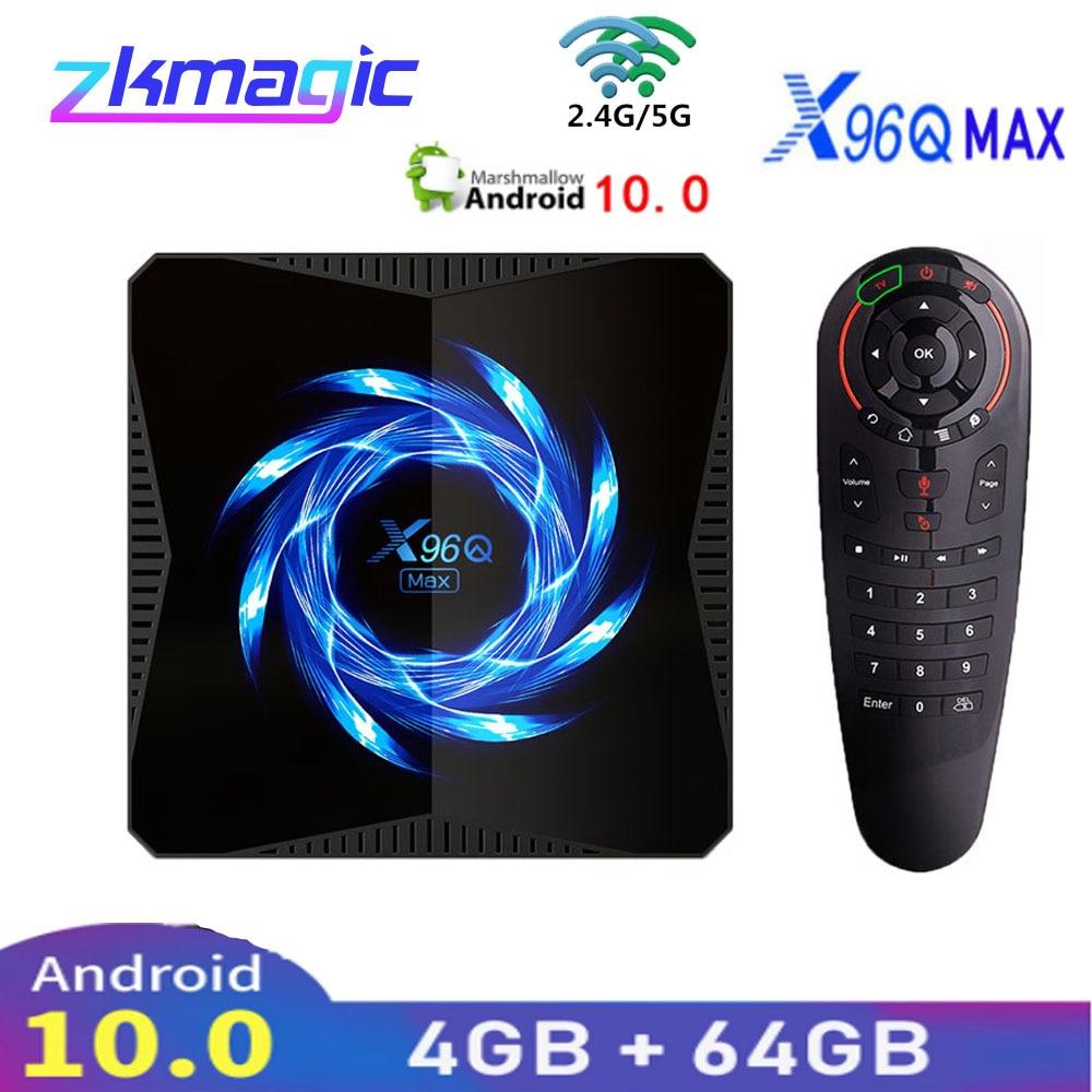 X96Q MAX Smart TV Box Android 10.0 Allwinner H616 4GB 32GB 2.4G 5G WiFi Bluetooth 4K lecteur multimédia Smart TV X96Q Android TV Box   AliExpress